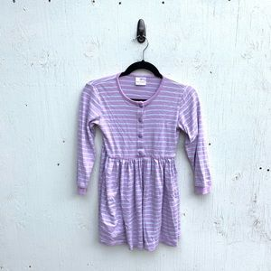Hanna Andersson Purple Striped Henley Dress